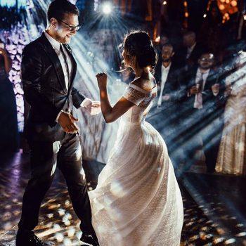Cinematic wedding lighting